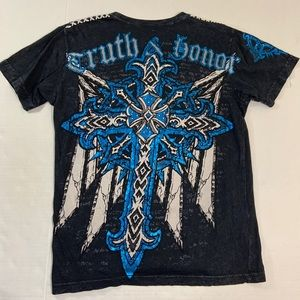 Affliction Raw State Logo Tee Shirt M